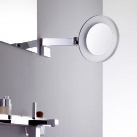 Emco Universal LED Rasier- und Kosmetikspiegel, rund, Wandmodell, mit 3facher Vergrößerung