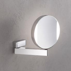 Emco Universal LED Rasier- und Kosmetikspiegel, rund, Wandmodell, mit Direktanschluss chrom