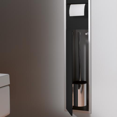 emco asis unterputz wc modul schwarz aluminium 975027550 reuter. Black Bedroom Furniture Sets. Home Design Ideas