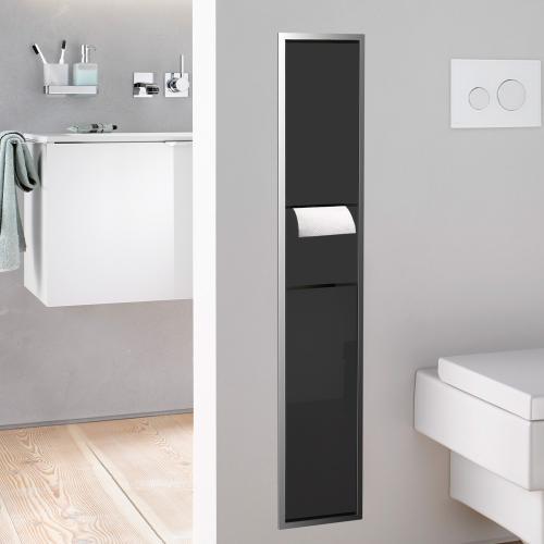 emco asis unterputz wc modul schwarz chrom 976027964 reuter. Black Bedroom Furniture Sets. Home Design Ideas