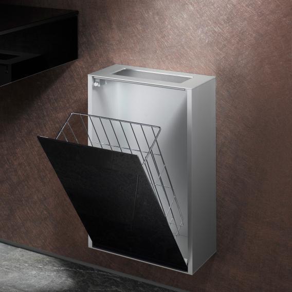 Emco Asis Aufputz-Abfallsammler Modul aluminium/schwarz