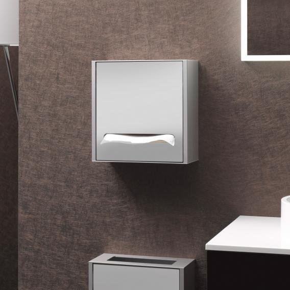 Emco Asis Aufputz-Papiertuchspender Modul aluminium/optiwhite