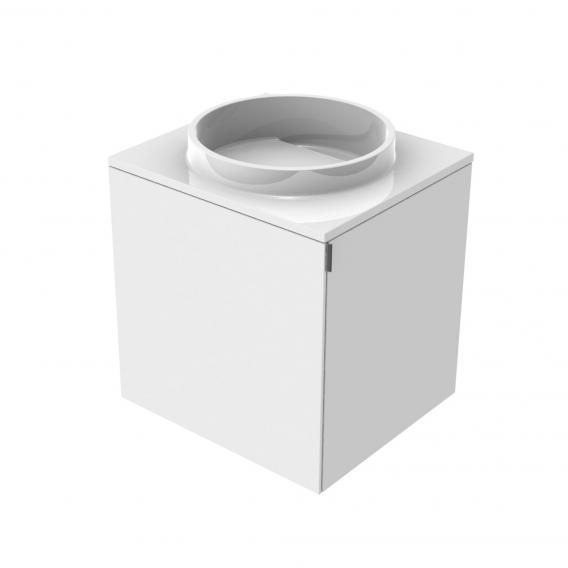 Emco Asis Handwaschbecken mit Waschtischunterschrank mit 1 Tür optiwhite, ohne Hahnloch