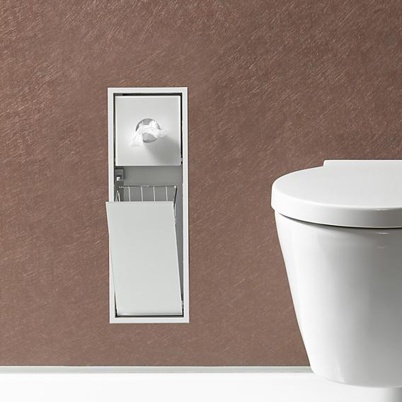 Emco Asis Unterputz-Hygienebeutel/Abfallsammler-Modul aluminium/optiwhite