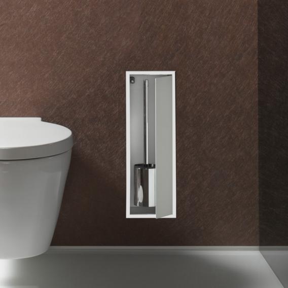 Emco Asis Unterputz-Toilettenbürstengarnitur-Modul aluminium/optiwhite