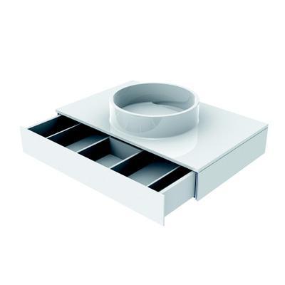 Emco Asis Waschtisch mit Schublade optiwhite weiß