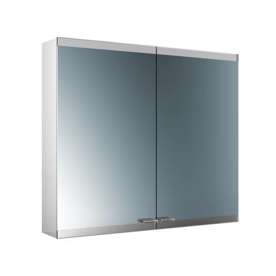 Emco Evo Aufputz Spiegelschrank mit LED-Beleuchtung aluminium, mit light system