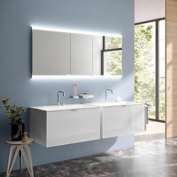 Emco Evo Unterputz Spiegelschrank mit LED-Beleuchtung aluminium, ohne light system