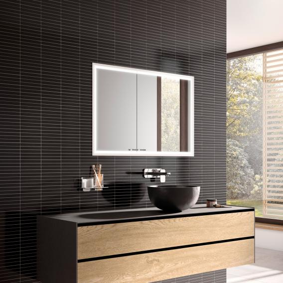 Emco Prestige 2 Unterputz-Lichtspiegelschrank breite Tür rechts, mit light system