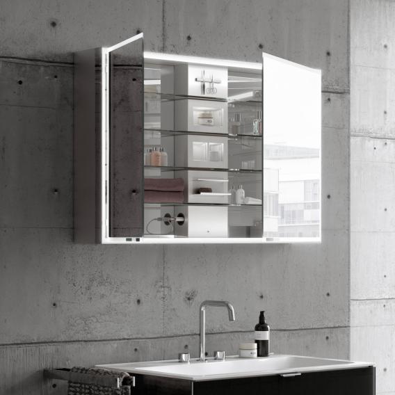 Emco Prestige Aufputz-Lichtspiegelschrank breite Tür rechts
