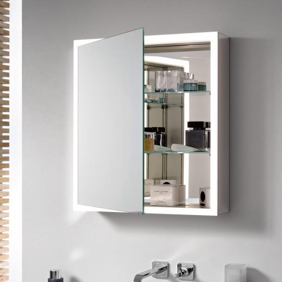 Emco Prime Aufputz LED-Lichtspiegelschrank aluminium/verspiegelt
