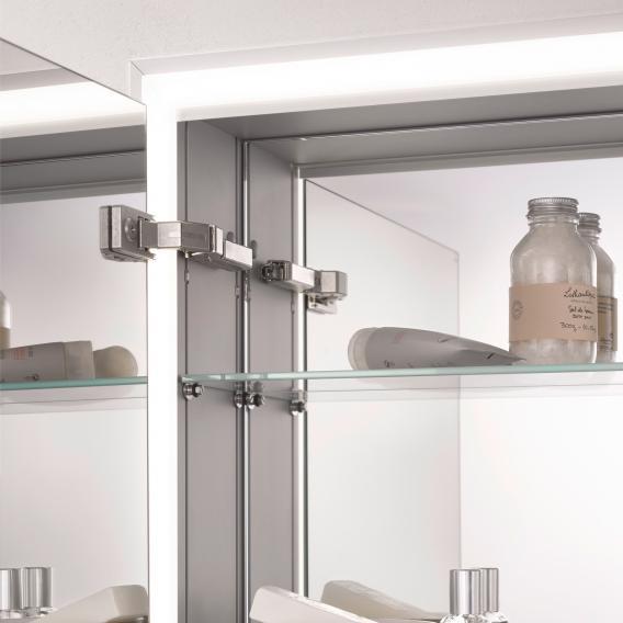 Emco Prime Aufputz LED-Lichtspiegelschrank mit Lichtpaket aluminium/verspiegelt