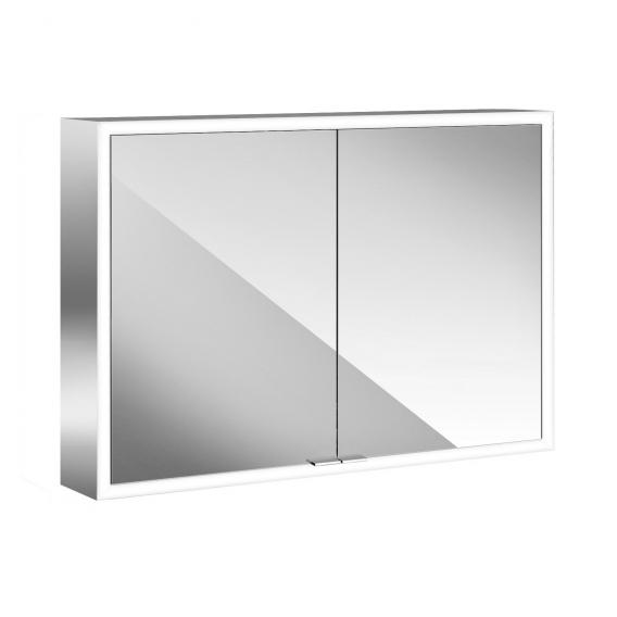 Emco Prime Aufputz LED-Lichtspiegelschrank mit Lichtpaket, 2 Türen aluminium/spiegel