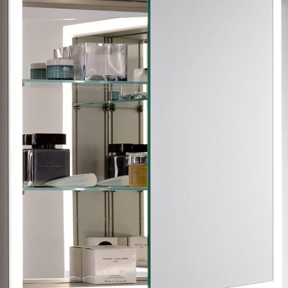 Emco Prime Unterputz LED-Lichtspiegelschrank mit Lichtpacket aluminium/verspiegelt
