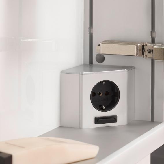 Emco Prime2 Aufputz LED-Lichtspiegelschrank, 3 Türen