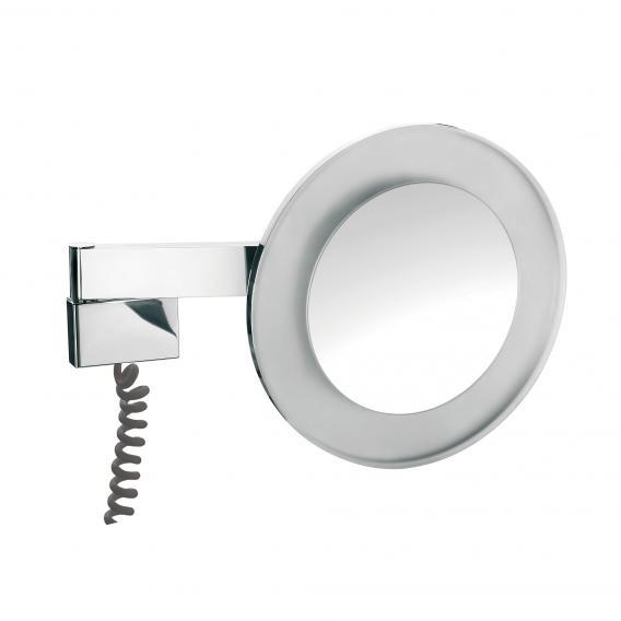 Emco Universal LED Rasier- und Kosmetikspiegel, Wandmodell 5-fache Vergrößerung