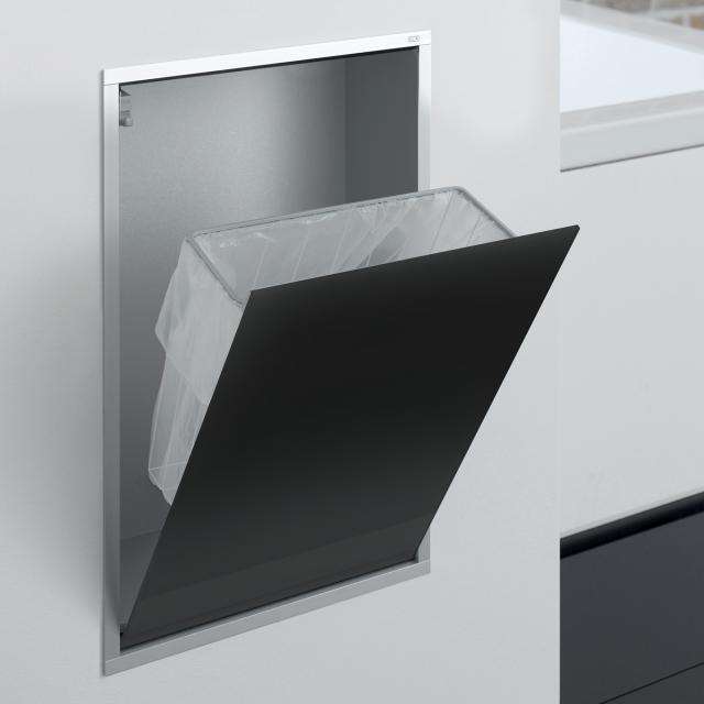 Emco Asis Unterputz-Abfallsammler-Modul schwarz/aluminium