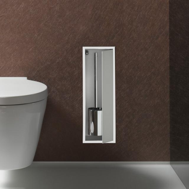 Emco Asis Unterputz-Toilettenbürstengarnitur-Modul chrom/optiwhite