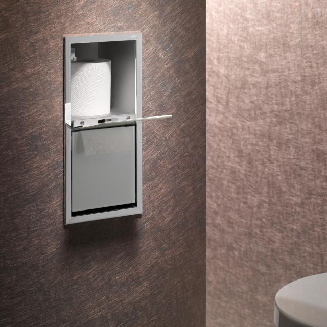 Emco Asis Unterputz-WC-Papier-Modul chrom/optiwhite