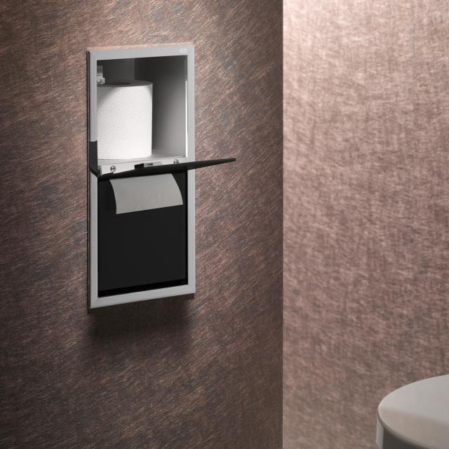 Emco Asis Unterputz-WC-Papier-Modul chrom/schwarz