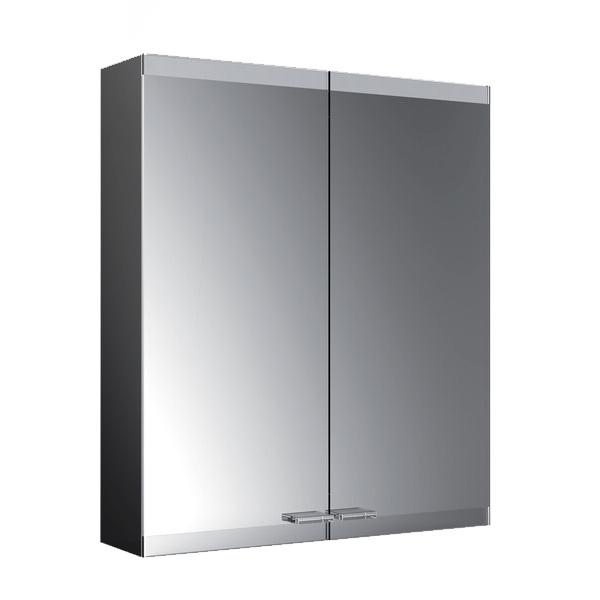 Emco Evo Aufputz Spiegelschrank mit LED-Beleuchtung schwarz, mit light system