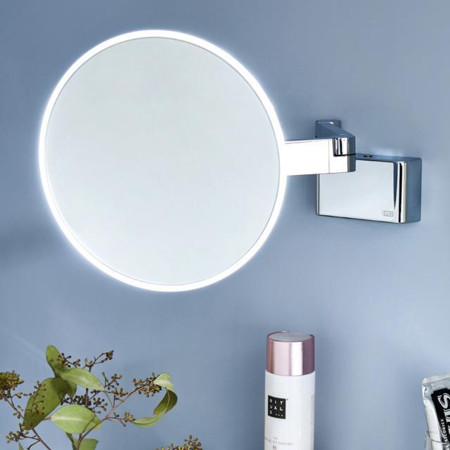 Emco Evo LED Rasier- und Kosmetikspiegel mit Direktanschluss und emco light system chrom