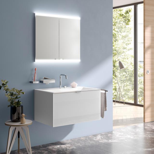 Emco Evo Unterputz Spiegelschrank mit LED-Beleuchtung aluminium, mit light system