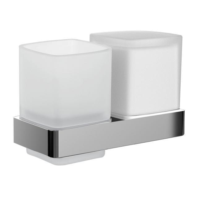 Emco Loft Glashalter mit Seifenspender und Mundglas, Wandmodell