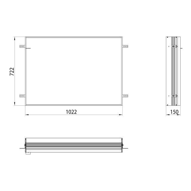 Emco asis prime Einbaurahmen für Unterputz LED-Lichtspiegelschrank
