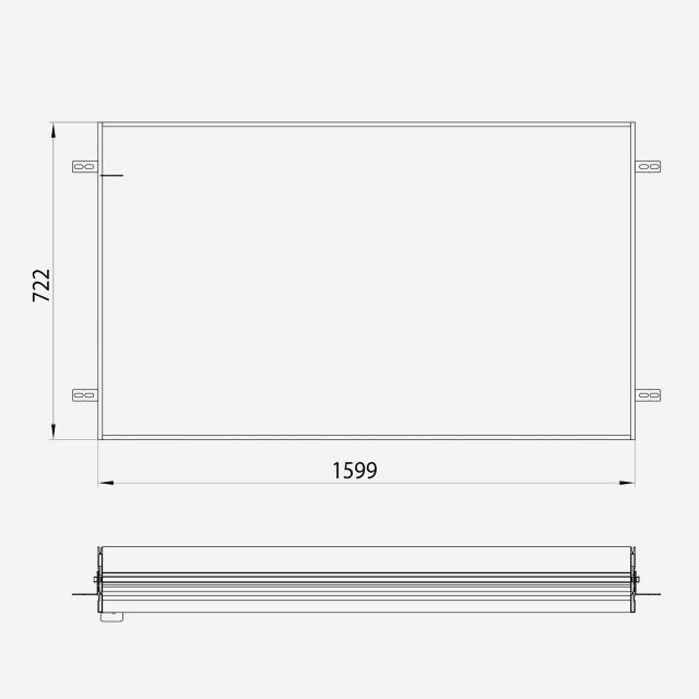 Emco Prime2 Einbaurahmen für Unterputz-Lichtspiegel
