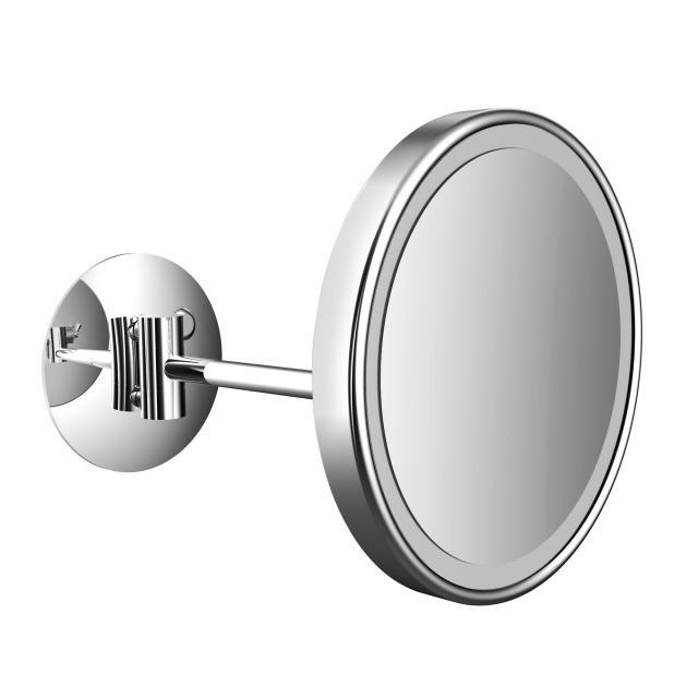 Emco Pure LED Rasier- und Kosmetikspiegel mit Direktanschluss chrom