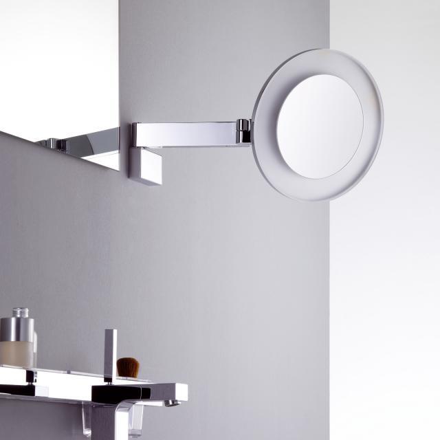 Emco Universal LED Rasier- und Kosmetikspiegel, Direktanschluss, 5-fache Vergrößerung