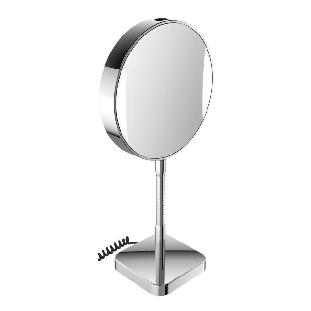 Emco Universal LED Rasier- und Kosmetikspiegel, rund, Standmodell, mit Netzteil