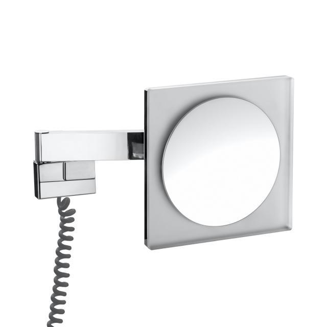 Emco Universal LED Rasier- und Kosmetikspiegel, Wandmodell, 5-fache Vergrößerung