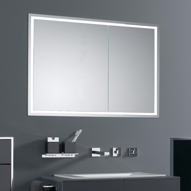 Emco asis prestige Unterputz Lichtspiegelschrank breite Tür links