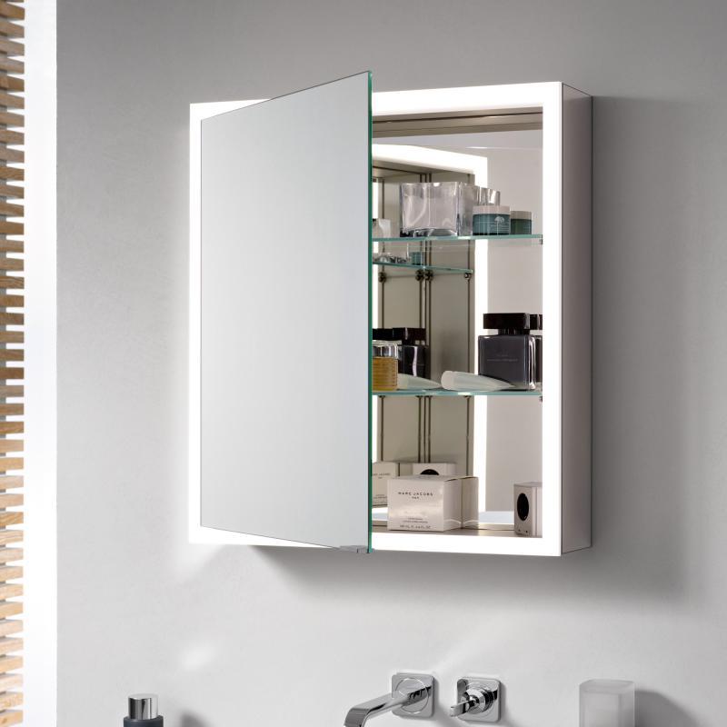 emco prime aufputz led lichtspiegelschrank mit lichtpaket aluminium verspiegelt 949706059 reuter. Black Bedroom Furniture Sets. Home Design Ideas