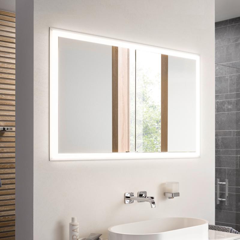 emco prime unterputz led lichtspiegelschrank 2 t ren aluminium verspiegelt 949705074 reuter. Black Bedroom Furniture Sets. Home Design Ideas