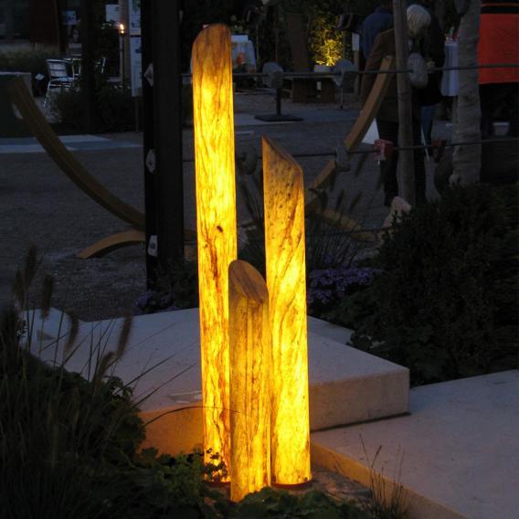 Epstein-Design Sahara Säule LED Pollerleuchte mit Dimmer