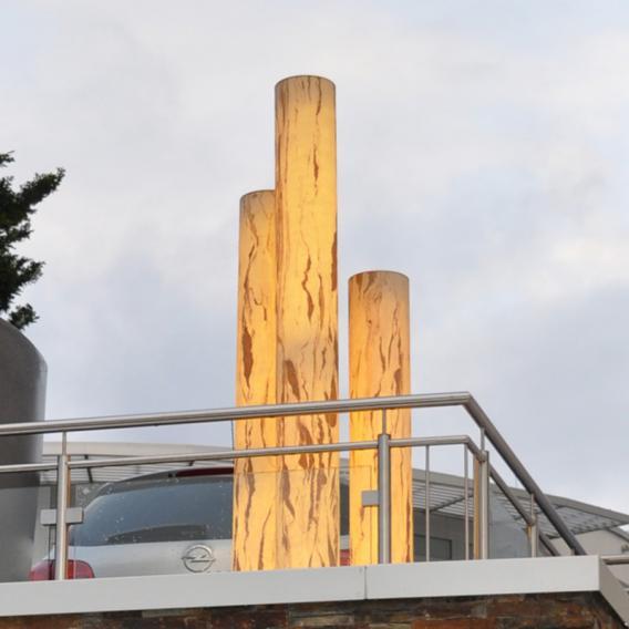 Epstein-Design Sahara Turm LED Pollerleuchte mit Dimmer