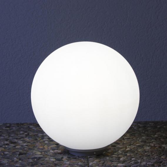 Epstein-Design Snowball ortsfeste Bodenleuchte mit Dämmerungsschalter