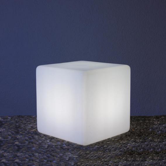 Epstein-Design Würfel Bodenleuchte mit Bewegungsmelder