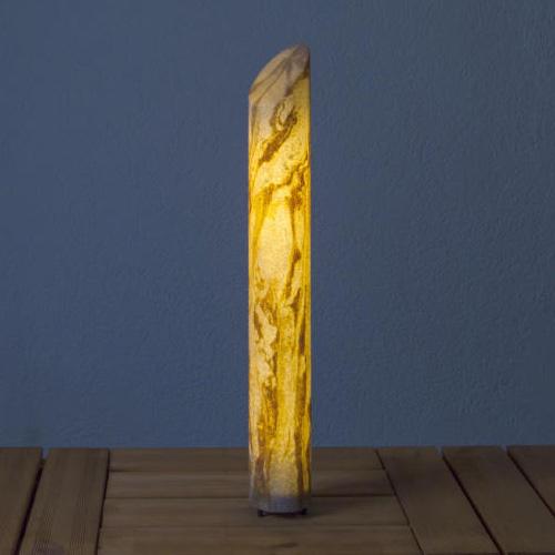 Epstein-Design Sahara Säule Pollerleuchte mit Bewegungsmelder