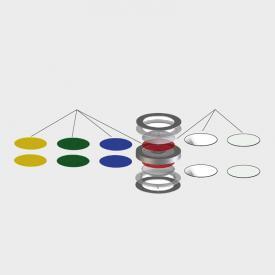 Escale dichroitischer Farbfilter für Leuchte VIO