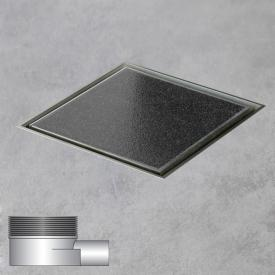 ESS Aqua Quattro Bodenablauf inklusive Abdeckung für Fliese  L: 10 B: 10 cm, waagerecht
