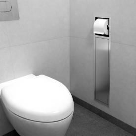 ESS Container ROLL Einbau WC - Bürstenhalter und Papierhalter edelstahl gebürstet