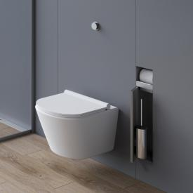 ESS Container T-ROLL WC-Bürstengarnitur mit Papierhalter, befliesbar edelstahl gebürstet