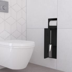 ESS Container T-ROLL WC-Bürstengarnitur mit Papierhalter, befliesbar schwarz