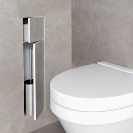 ESS Container T-ROLL WC-Bürstengarnitur mit Papierhalter, befliesbar weiß