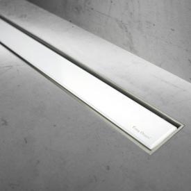 ESS Easy Drain Modulo TAF Zero+ Abdeckung für Duschrinne: 80 cm, Glas weiß