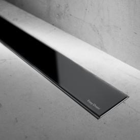 ESS Modulo Basic Glas schwarz Glanz für Duschrinne: 90 cm